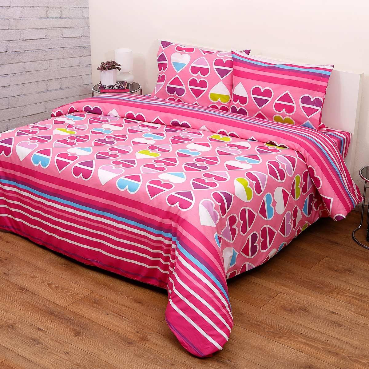 Πάπλωμα Ημίδιπλο (Σετ) Viopros Kids Cotton Καρδιές home   κρεβατοκάμαρα   παπλώματα   παπλώματα ημίδιπλα   διπλά