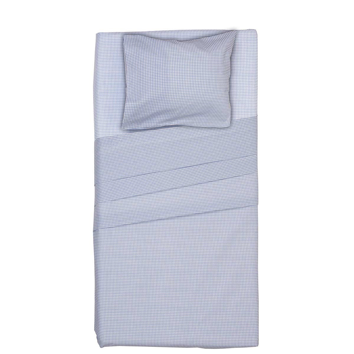Πάπλωμα Κούνιας (Σετ) Viopros Baby Cotton Ρούμπικ Σιέλ