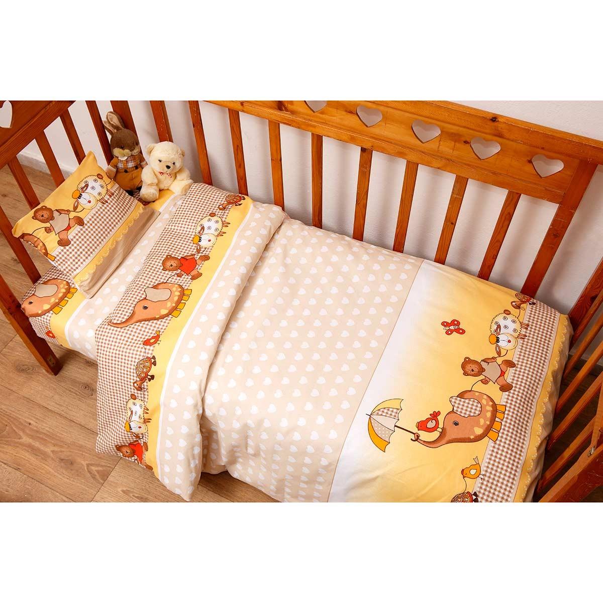 Κουβερλί Κούνιας (Σετ) Viopros Baby Cotton Χάρι