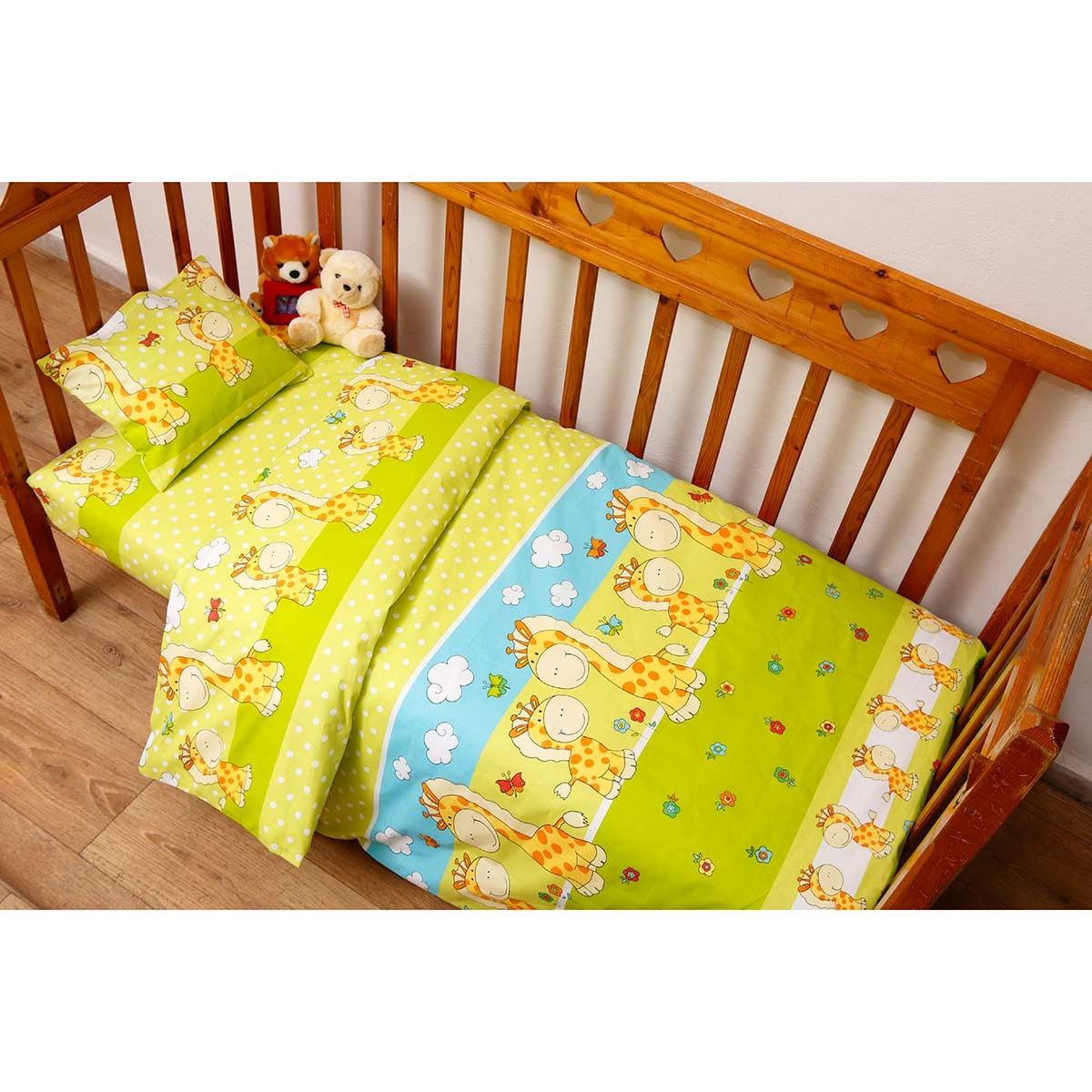 Παπλωματοθήκη Κούνιας (Σετ) Viopros Baby Cotton Ραφαέλ