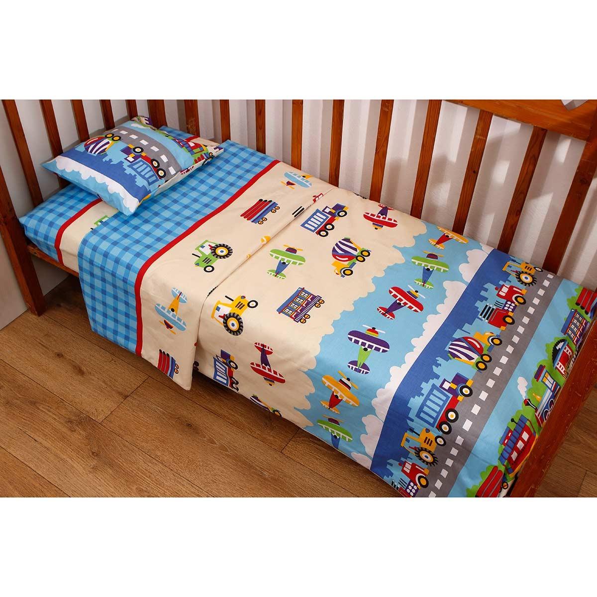 Πάπλωμα Κούνιας (Σετ) Viopros Baby Cotton Μαξ