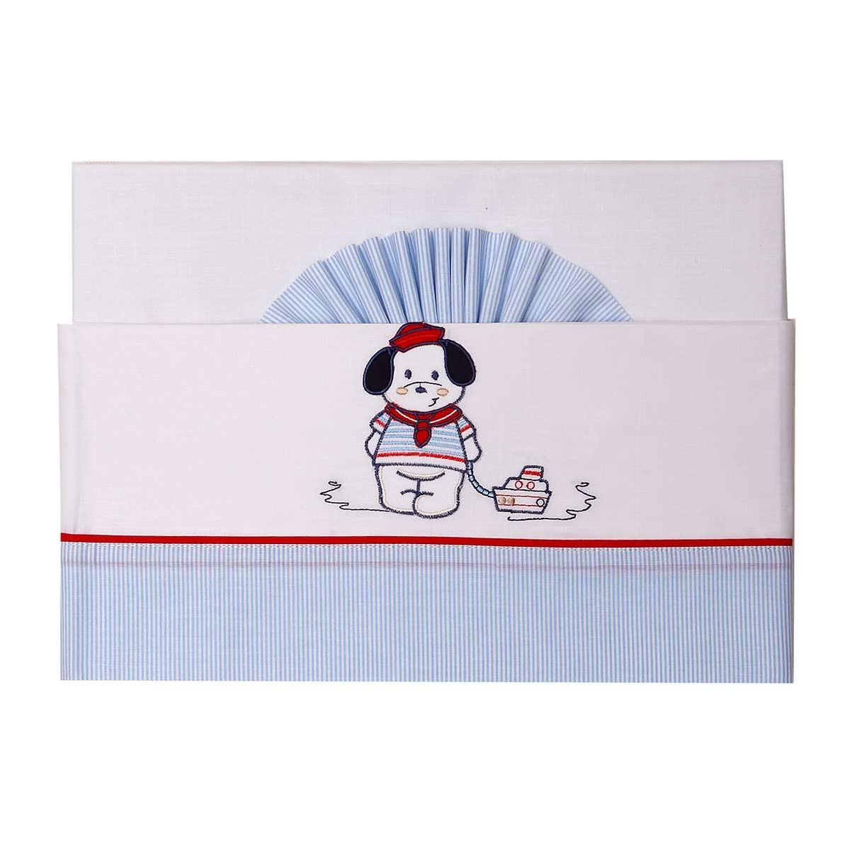 Σεντόνια Κούνιας (Σετ) Viopros Baby Applique Ναυτάκι