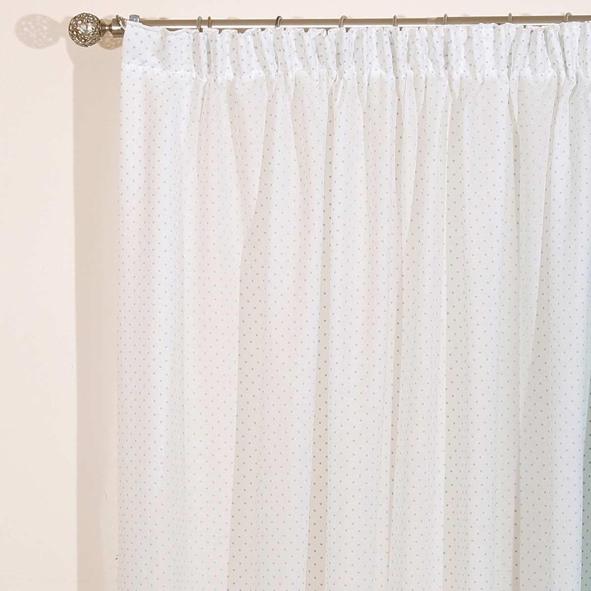 Παιδική Κουρτίνα (280×270) Viopros Curtains Γάζα Πουά Σιέλ
