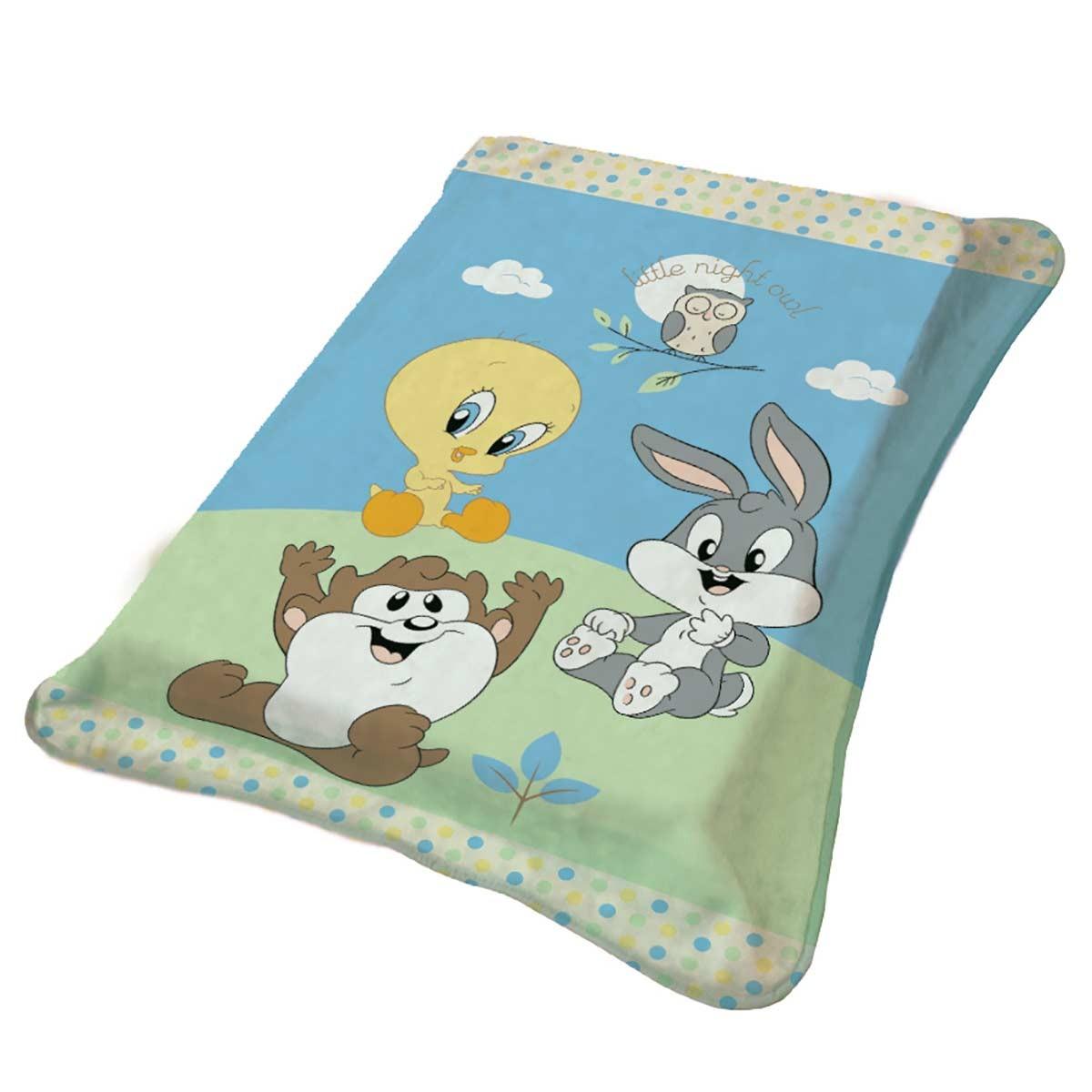 Κουβέρτα Βελουτέ Κούνιας Viopros Baby Looney Tunes 1
