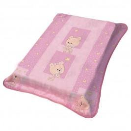 Κουβέρτα Βελουτέ Αγκαλιάς Viopros 697 Ροζ