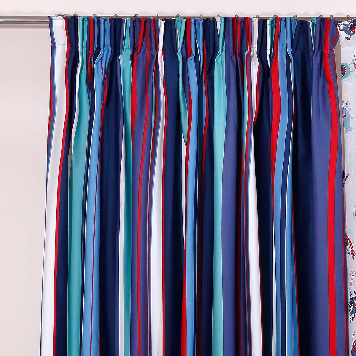 Παιδική Κουρτίνα (160×270) Viopros Curtains Έλιοτ Ριγέ