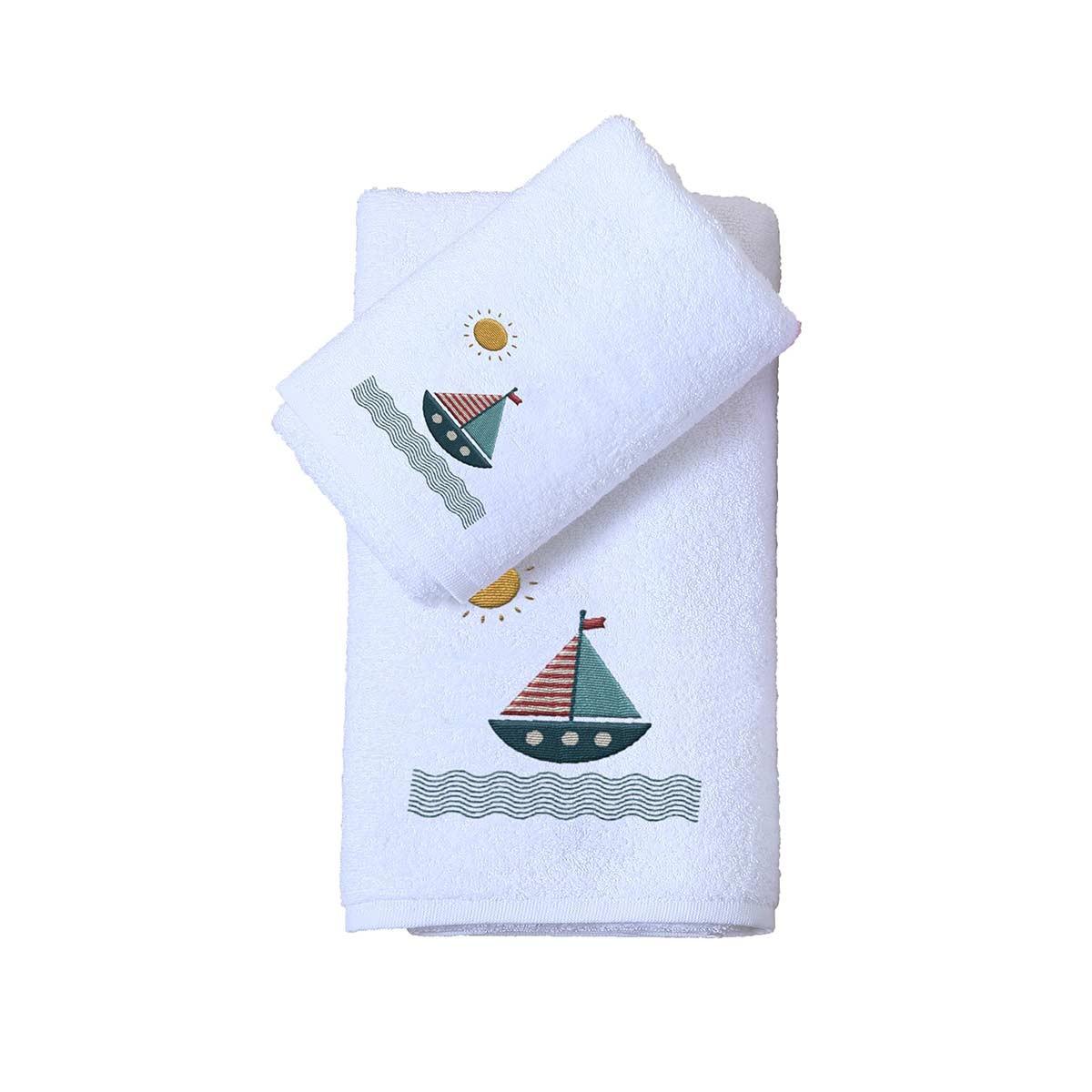 Βρεφικές Πετσέτες (Σετ 2τμχ) Viopros Βαρκούλα