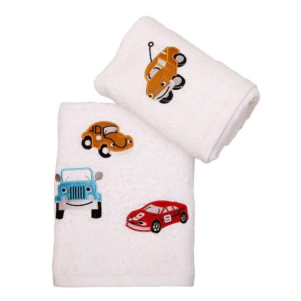 Παιδικές Πετσέτες (Σετ 2τμχ) Viopros Αμαξάκια