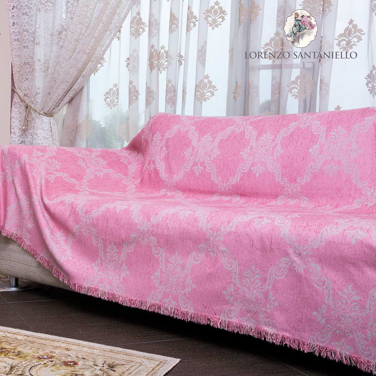 Ριχτάρι Τριθέσιου (180x300) Lorenzo Santaniello Baroque Pink