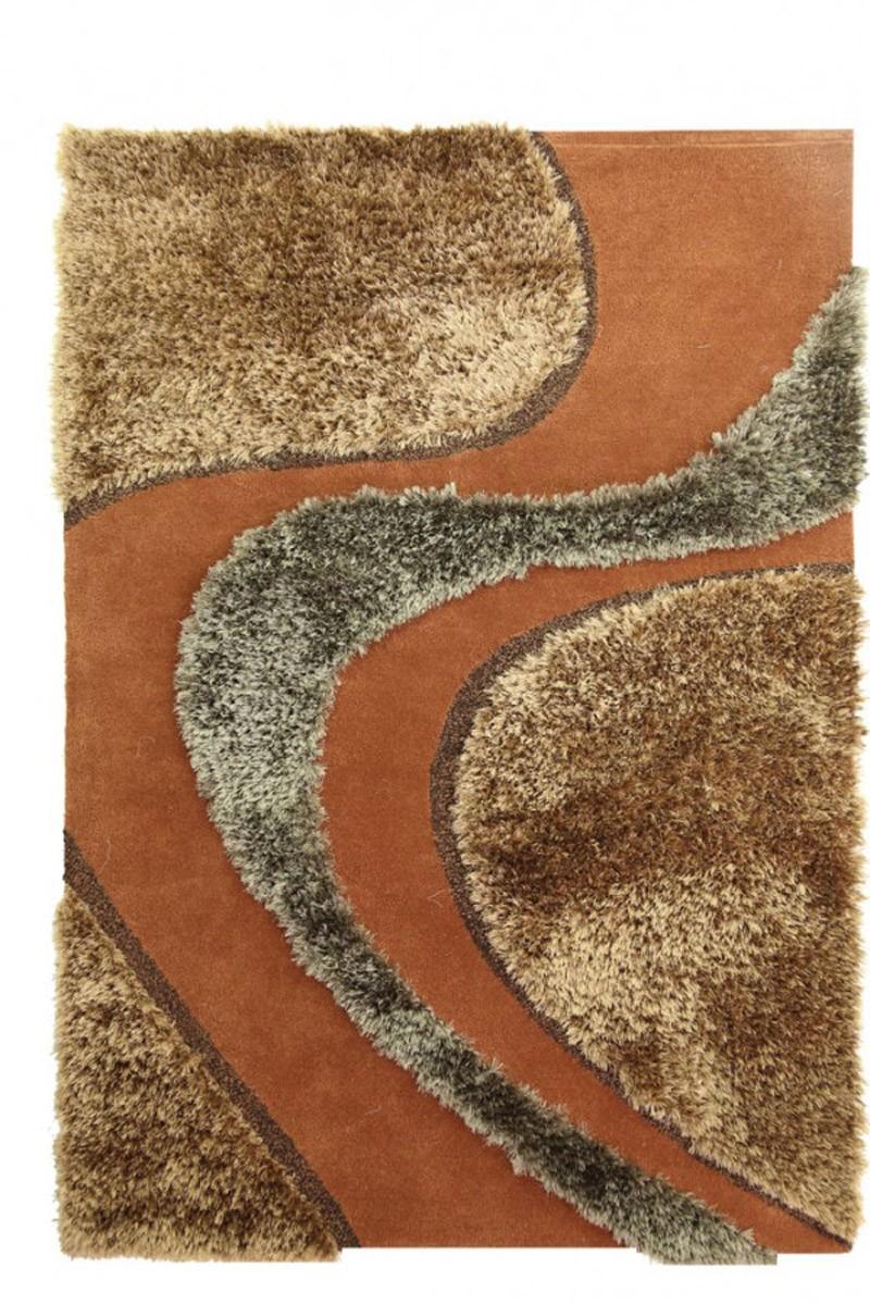 Χειροποίητο Χαλί (160x230) Royal Carpets White Tie 001 Brown
