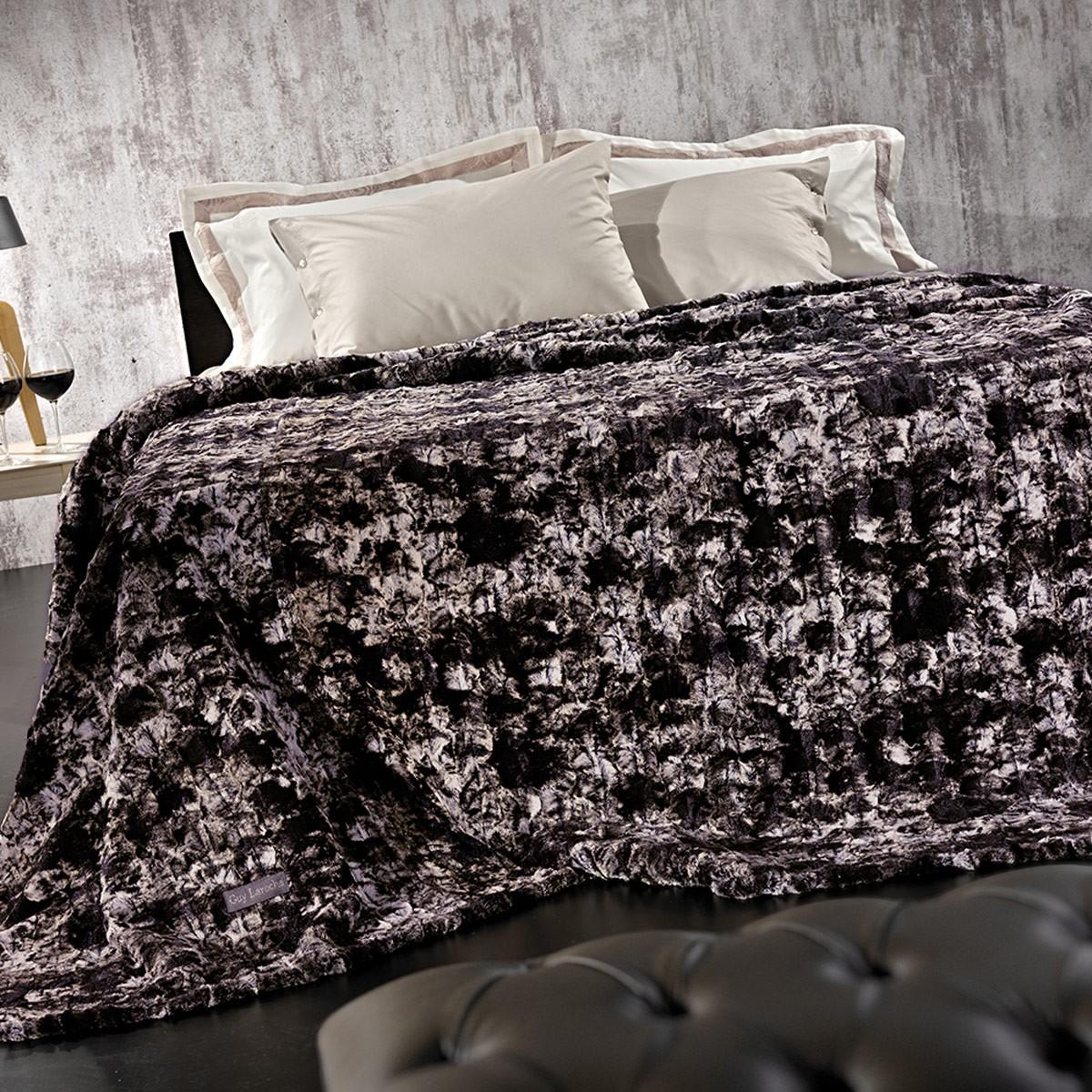 Κουβέρτα Γούνινη Υπέρδιπλη Guy Laroche Agata Amethyst home   κρεβατοκάμαρα   κουβέρτες   κουβέρτες γούνινες   μάλλινες