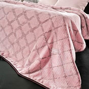 Κουβέρτα Βελουτέ Υπέρδιπλη Guy Laroche Maroon Cherry