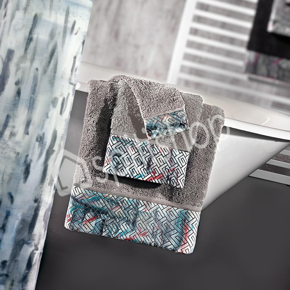 Πετσέτες Μπάνιου (Σετ 3τμχ) Guy Laroche Pastel Grey