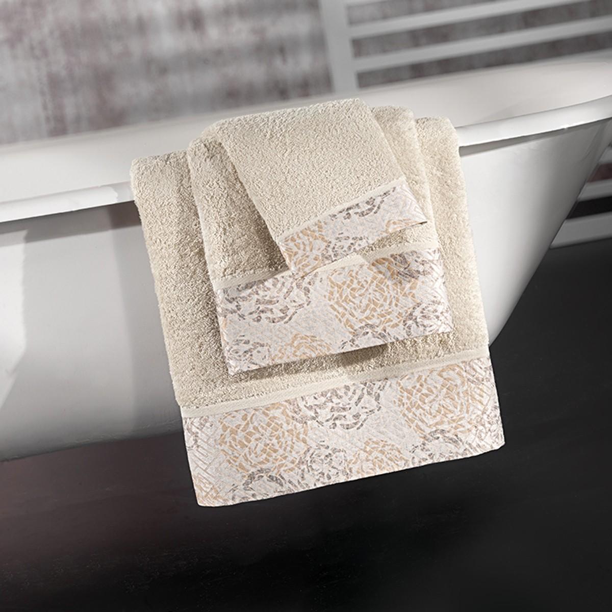 Πετσέτες Μπάνιου (Σετ 3τμχ) Guy Laroche Lelia Sand