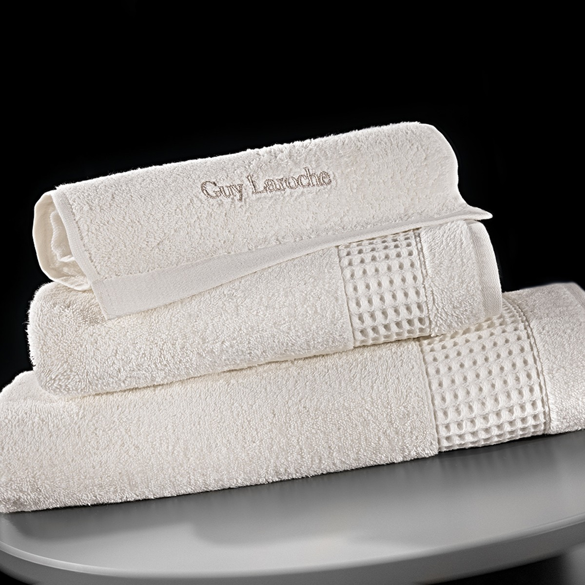 Πετσέτες Μπάνιου (Σετ 3τμχ) Guy Laroche Amaro Cream