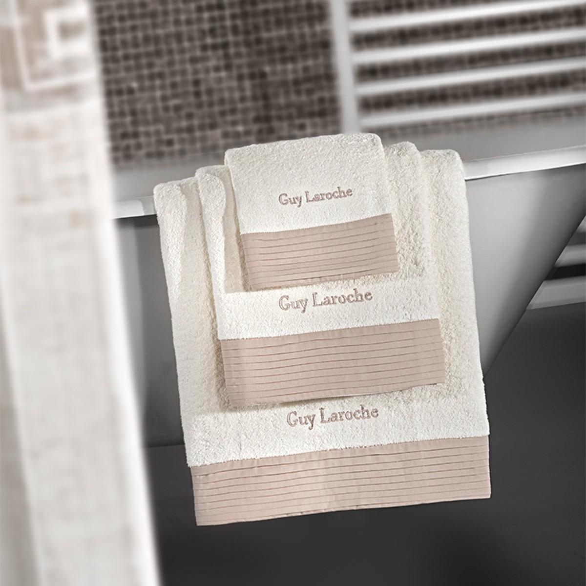 Πετσέτες Μπάνιου (Σετ 3τμχ) Guy Laroche Enzo Sand