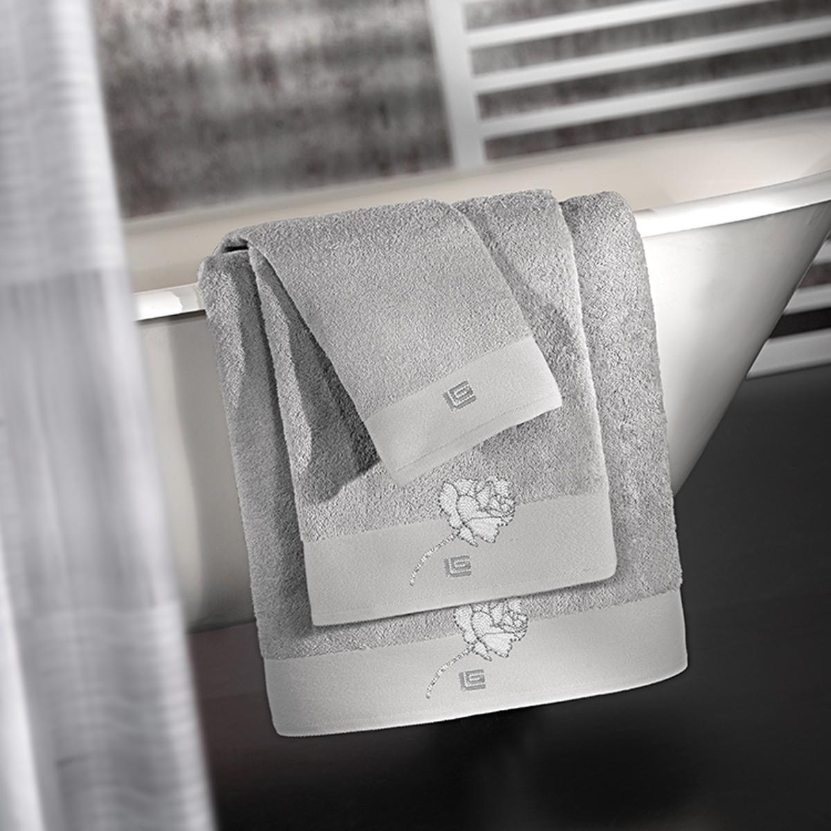 Πετσέτες Μπάνιου (Σετ 3τμχ) Guy Laroche Celia Silver