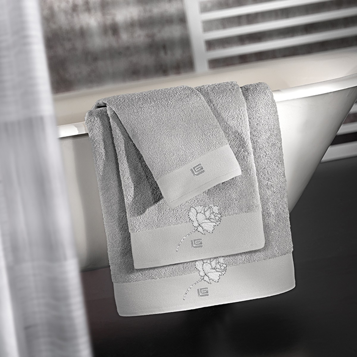 Πετσέτες Μπάνιου (Σετ) Guy Laroche Celia Silver home   μπάνιο   πετσέτες μπάνιου