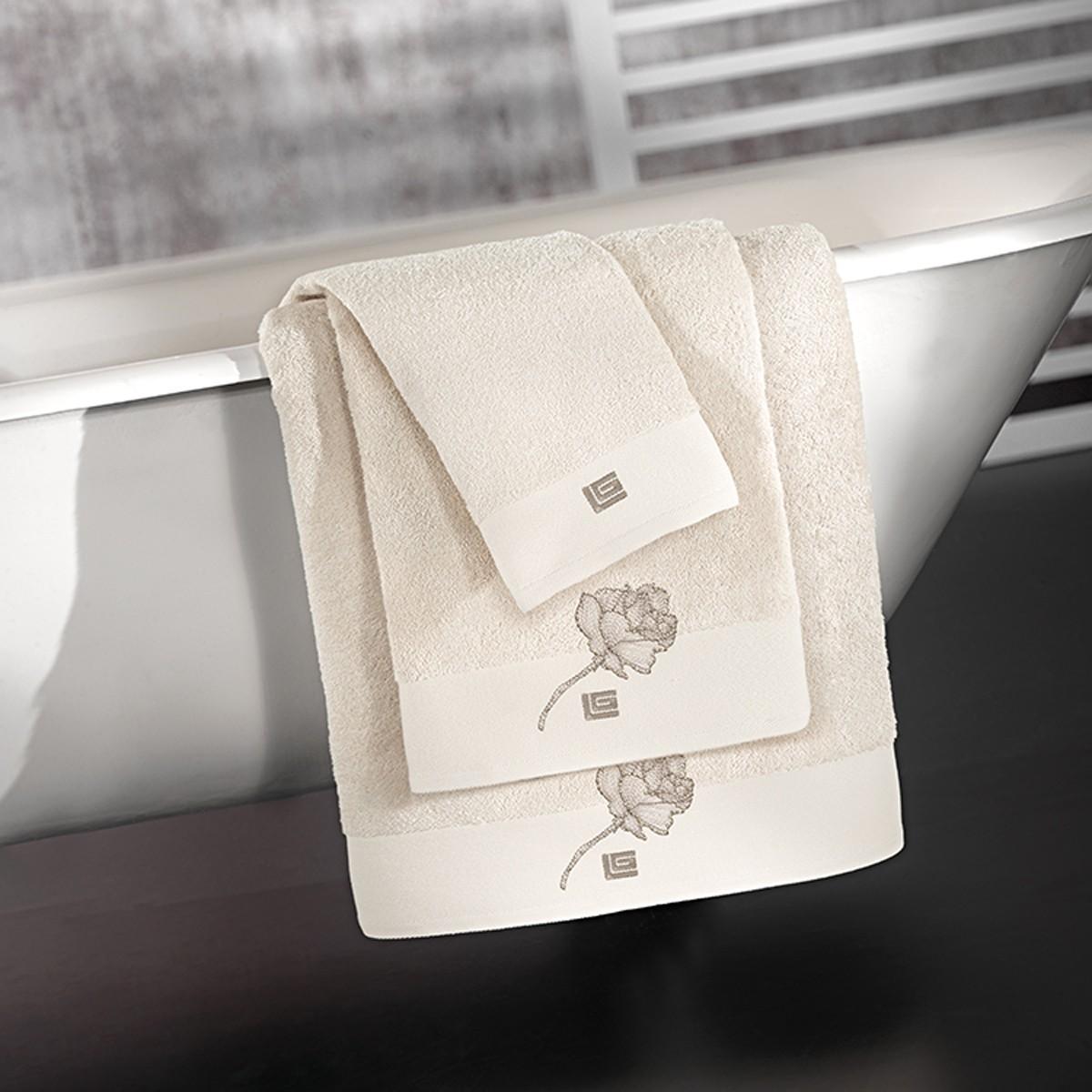 Πετσέτες Μπάνιου (Σετ) Guy Laroche Celia Ivory home   μπάνιο   πετσέτες μπάνιου