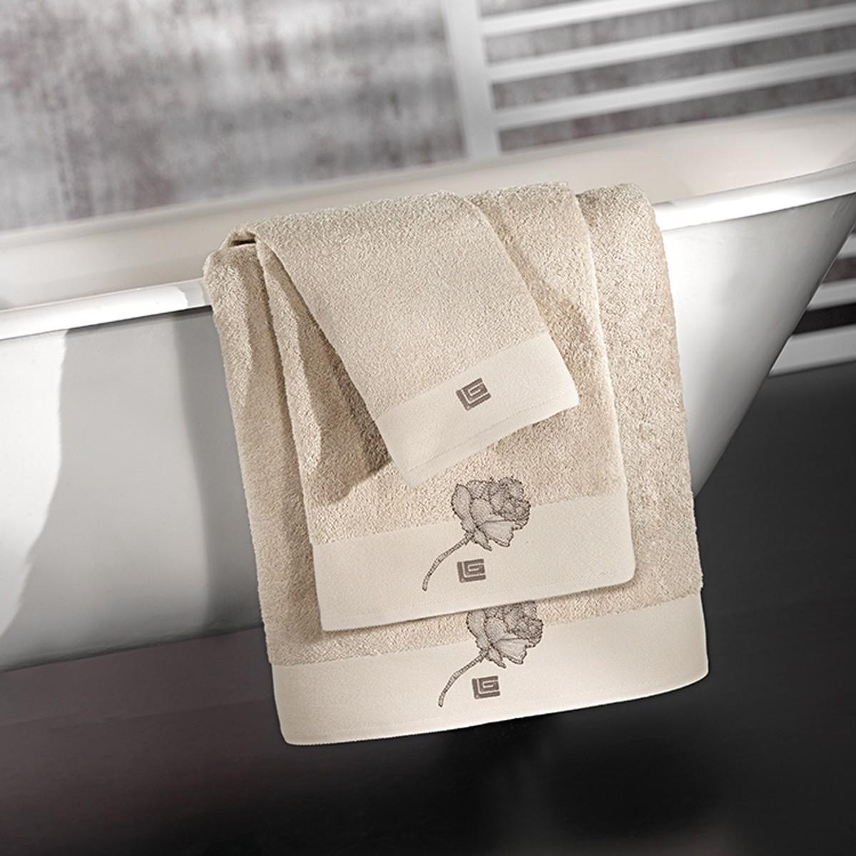 Πετσέτες Μπάνιου (Σετ) Guy Laroche Celia Natural home   μπάνιο   πετσέτες μπάνιου