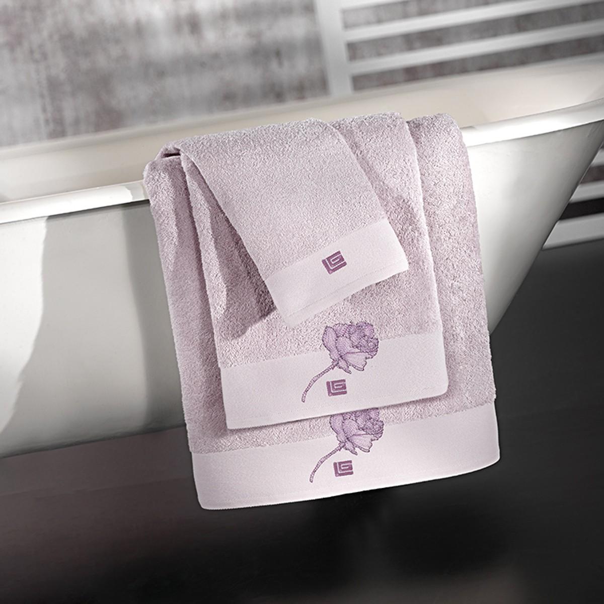 Πετσέτες Μπάνιου (Σετ 3τμχ) Guy Laroche Celia Lilac home   μπάνιο   πετσέτες μπάνιου