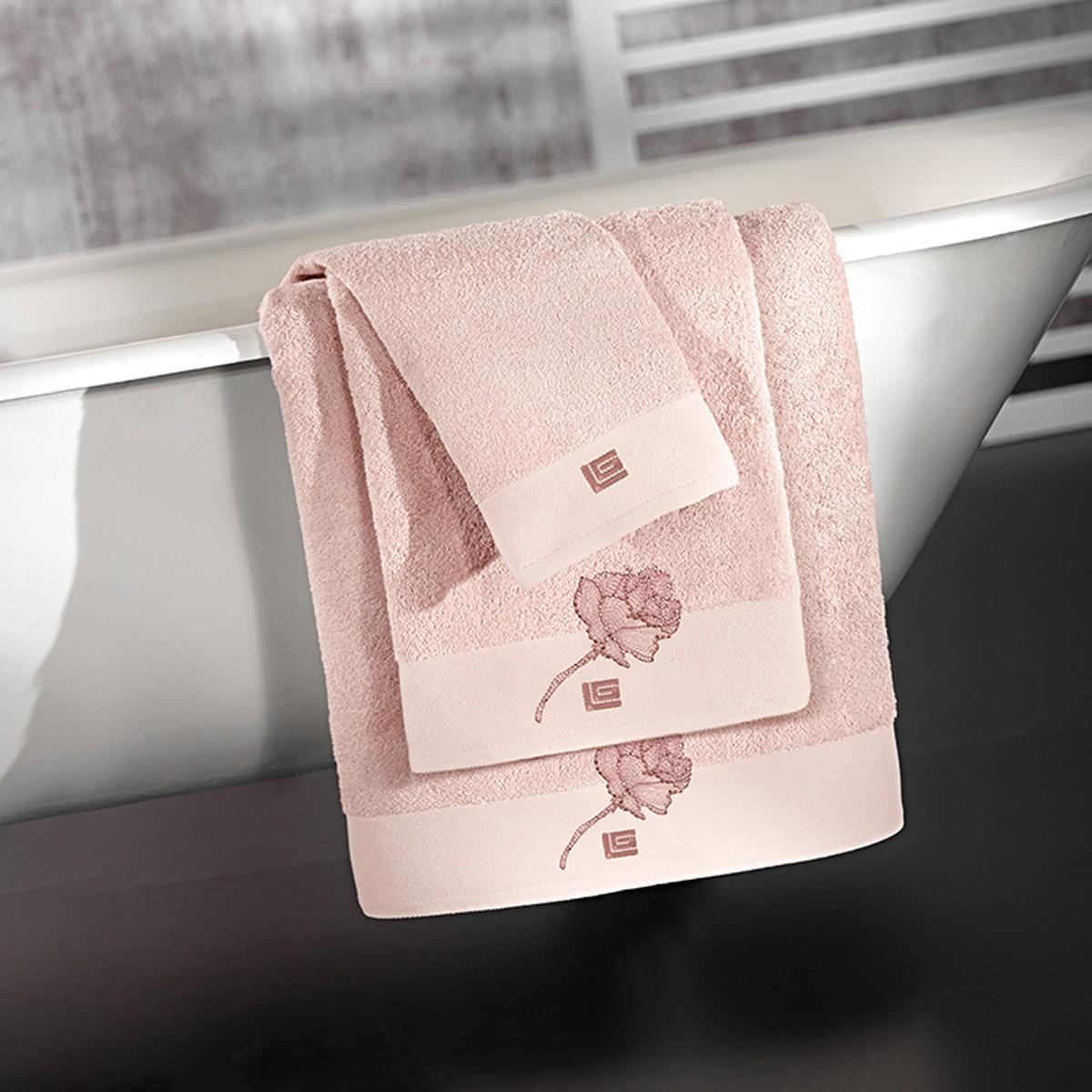 Πετσέτες Μπάνιου (Σετ 3τμχ) Guy Laroche Celia Old Pink