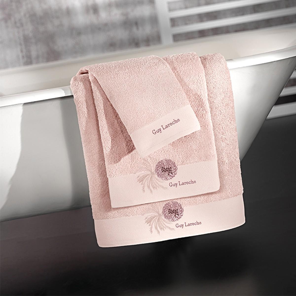Πετσέτες Μπάνιου (Σετ 3τμχ) Guy Laroche Ofelia Old Pink