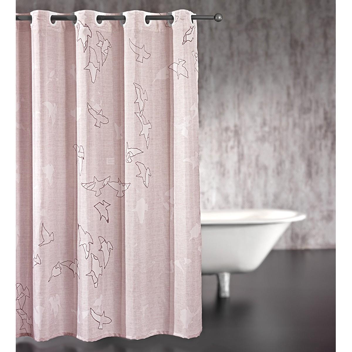 Κουρτίνα Μπάνιου (180×185) Guy Laroche Freedom Old Pink