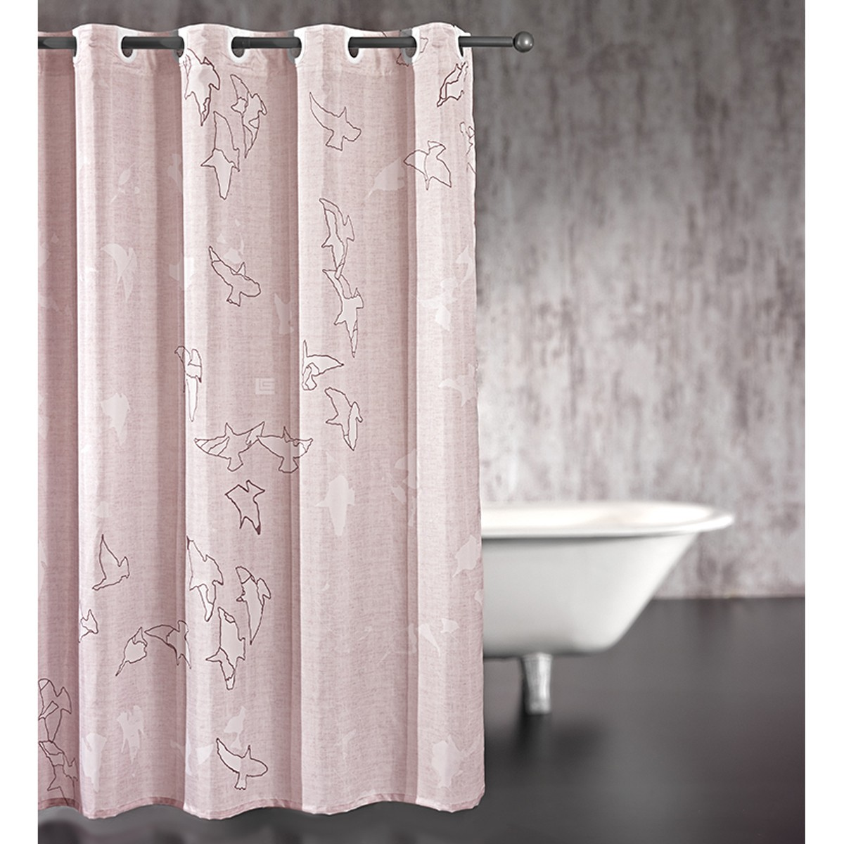 Κουρτίνα Μπάνιου (240×185) Guy Laroche Freedom Old Pink