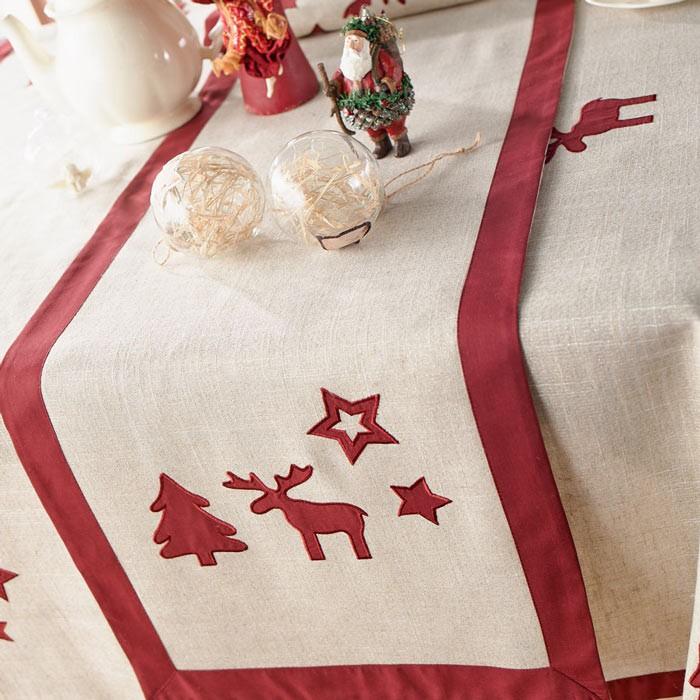 Χριστουγεννιάτικη Τραβέρσα Gofis Home Rudolf 412