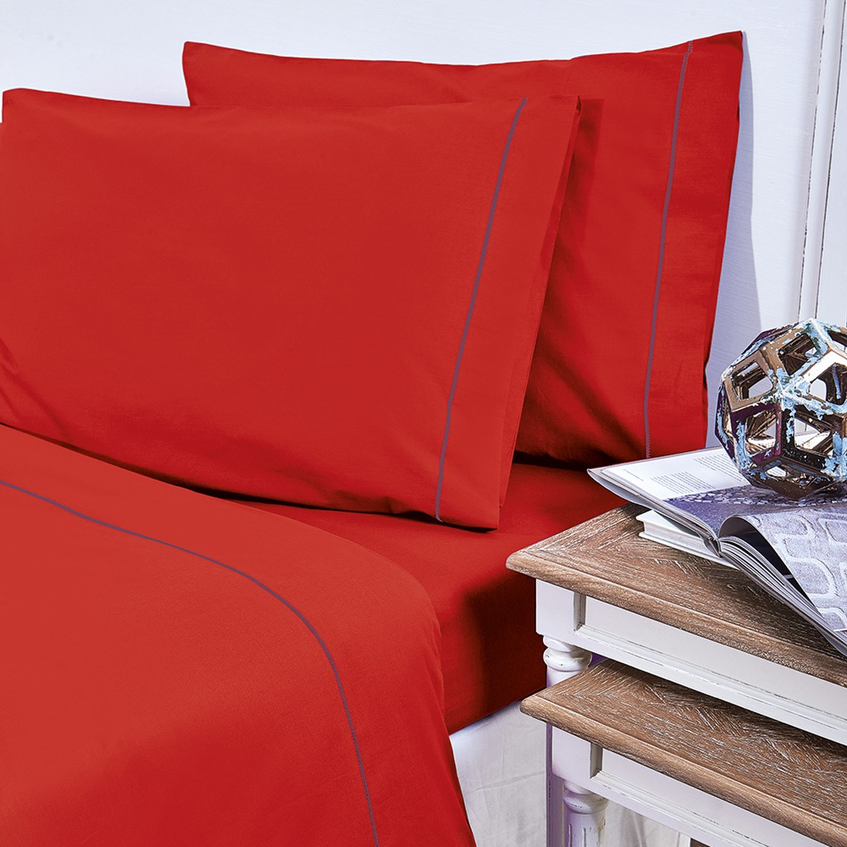 Σεντόνια Υπέρδιπλα (Σετ) V19.69 Arcobaleno Bello Red
