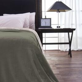 Κουβέρτα Fleece Μονή Διπλής Όψης V19.69 Abbracio Grey