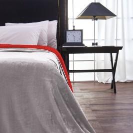 Κουβέρτα Fleece Μονή Διπλής Όψης V19.69 Abbracio Silver