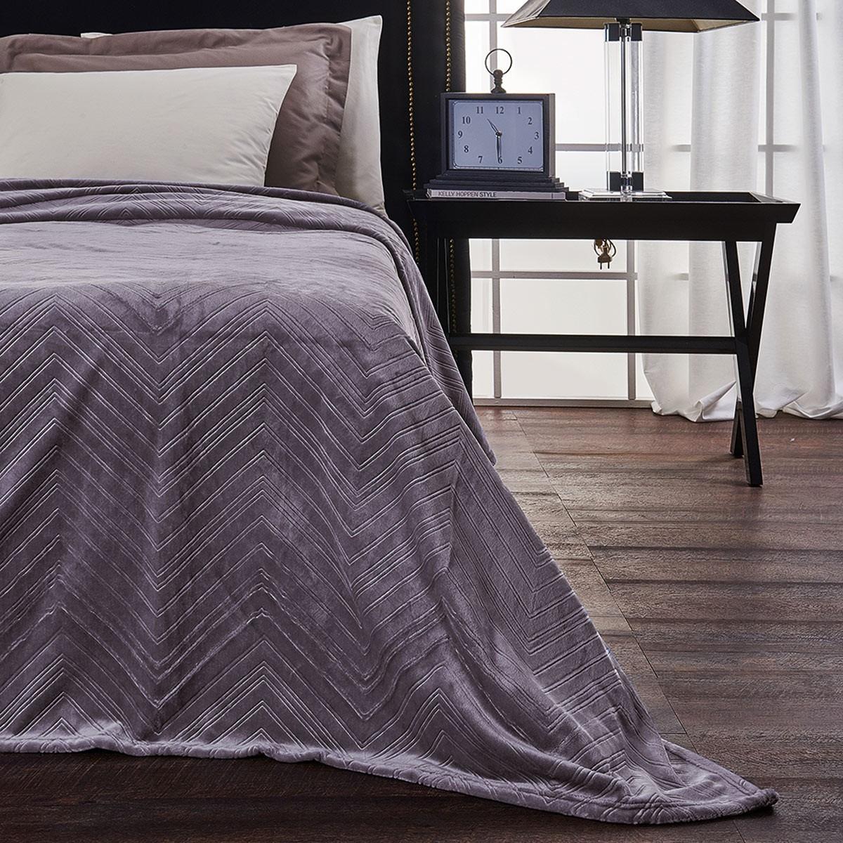 Κουβέρτα Fleece Υπέρδιπλη V19.69 Angolo Lilac