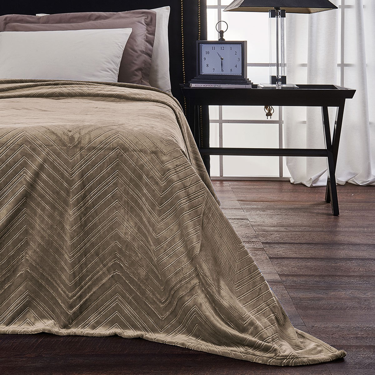 Κουβέρτα Fleece Υπέρδιπλη V19.69 Angolo Taupe