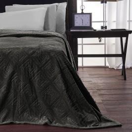 Κουβέρτα Fleece Μονή V19.69 Meandro Carbone