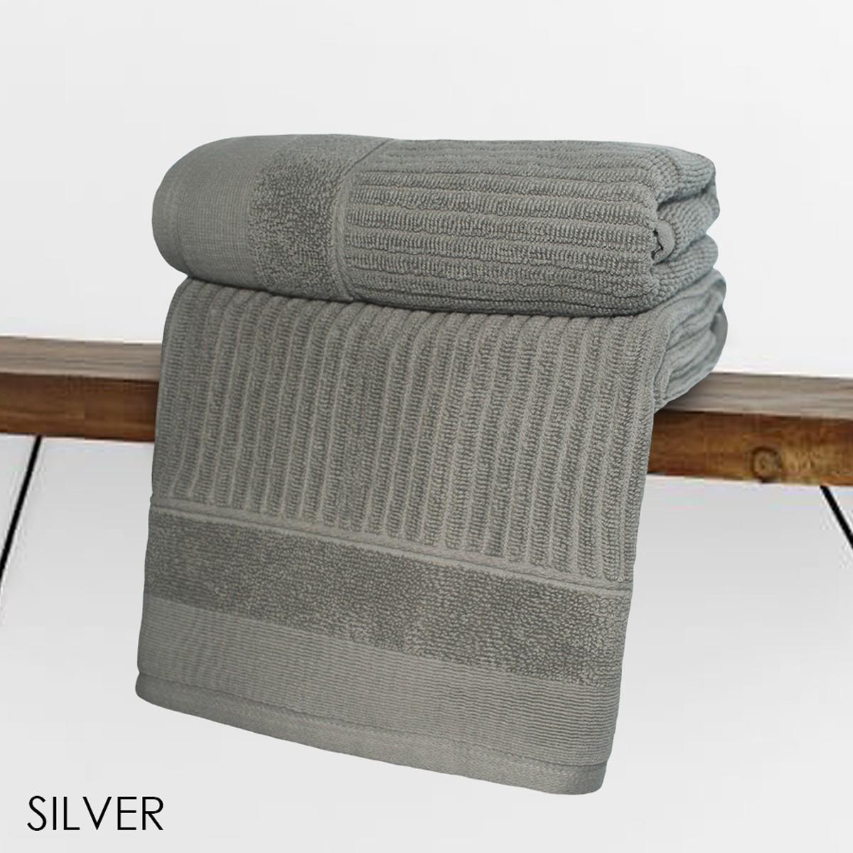 Πετσέτα Προσώπου (50x90) V19.69 Fabia Silver