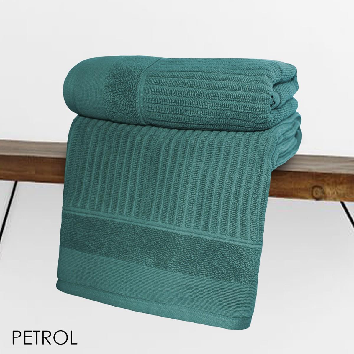 Πετσέτα Προσώπου (50x90) V19.69 Fabia Petrol