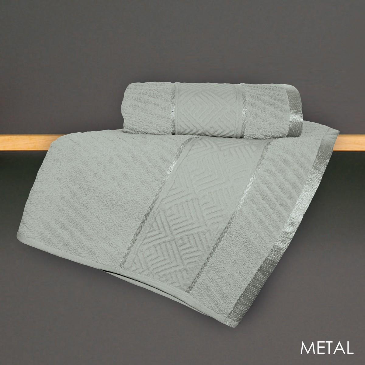 Πετσέτα Προσώπου (50x90) V19.69 Mimoza Metal