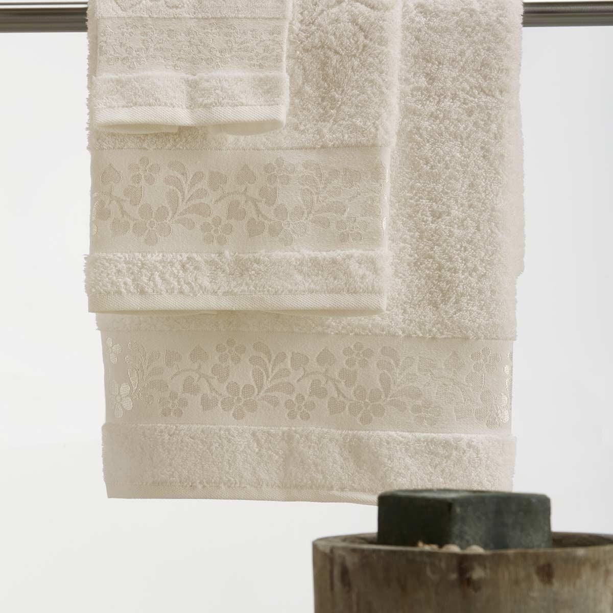 Πετσέτες Μπάνιου (Σετ 3τμχ) White Egg Άνδρος B Ecru