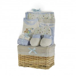 Βρεφικά Ρουχαλάκια (Σετ 10τμχ) White Egg Καλάθι Μπλε