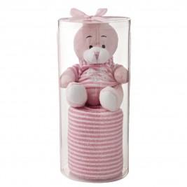 Κουβέρτα Fleece Αγκαλιάς White Egg 2159 A/Pink