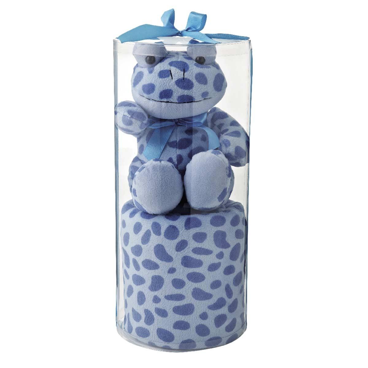 Κουβέρτα Fleece Αγκαλιάς White Egg 2151 A/Blue