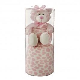 Κουβέρτα Fleece Αγκαλιάς White Egg 2151 Δ/Pink