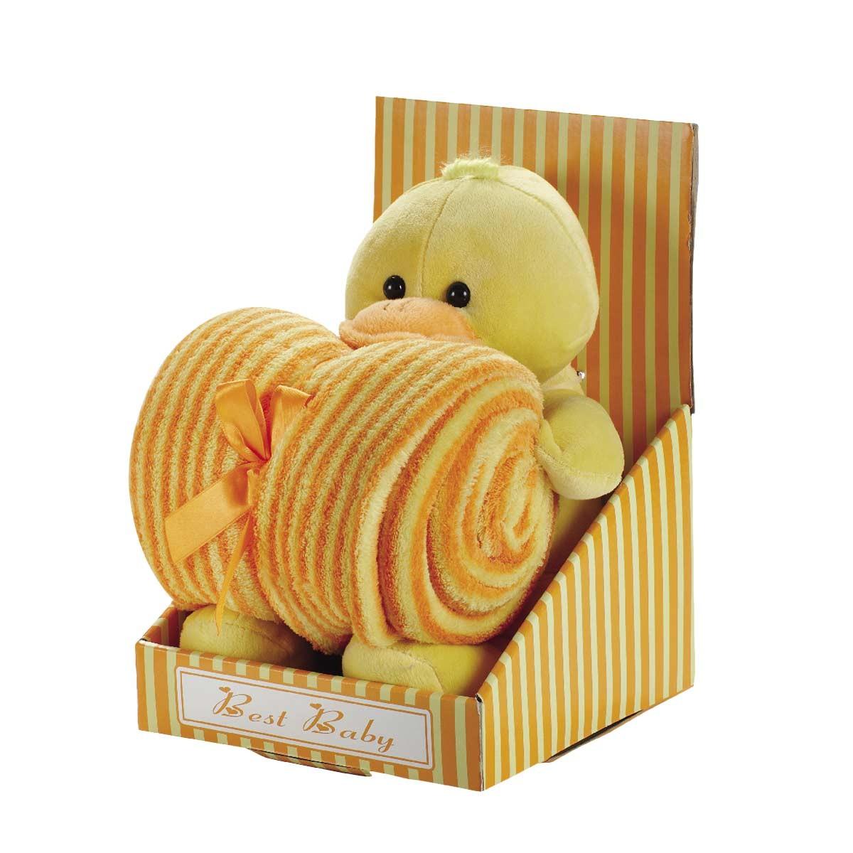 Κουβέρτα Fleece Αγκαλιάς White Egg 2161 A/Orange