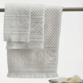 Πετσέτες Μπάνιου (Σετ 3τμχ) White Egg Κέρκυρα B White