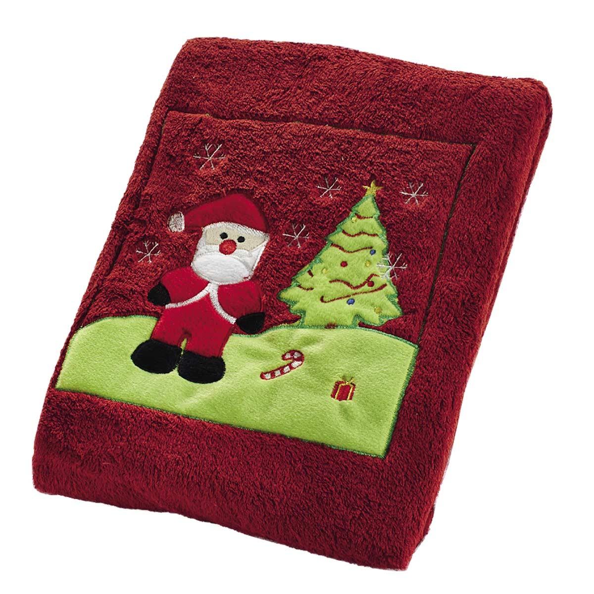 Χριστουγεννιάτικη Κουβέρτα Fleece White Egg 1069A