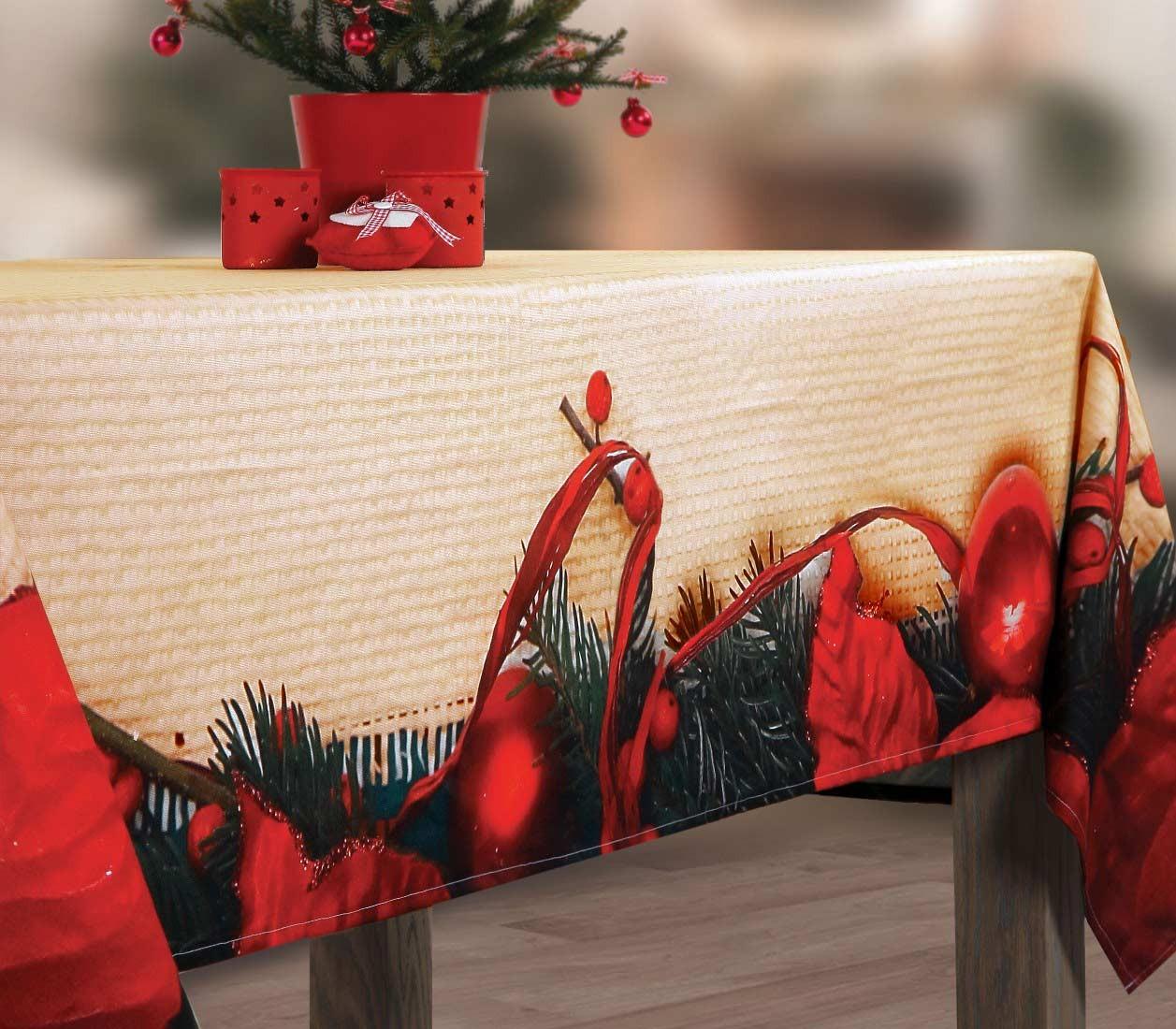 Χριστουγεννιάτικο Τραπεζομάντηλο (150x260) Nef-Nef Noel
