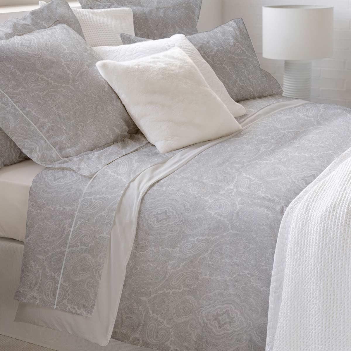 Παπλωματοθήκη Υπέρδιπλη (Σετ) Bedwall Satin Oriental Grey