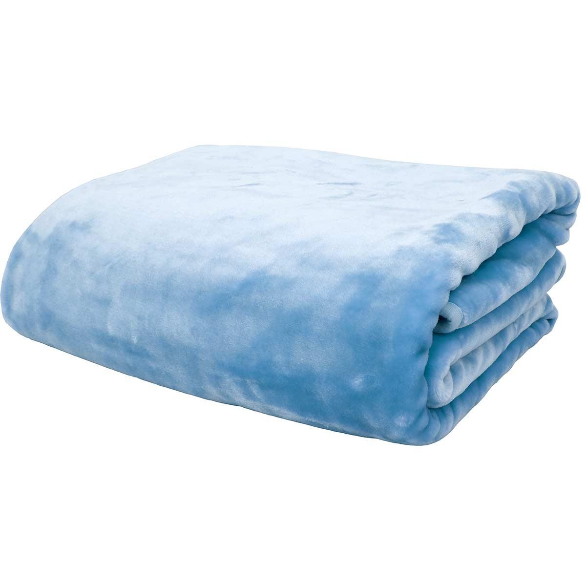 Κουβέρτα Βελουτέ Μονή Anna Riska Blue